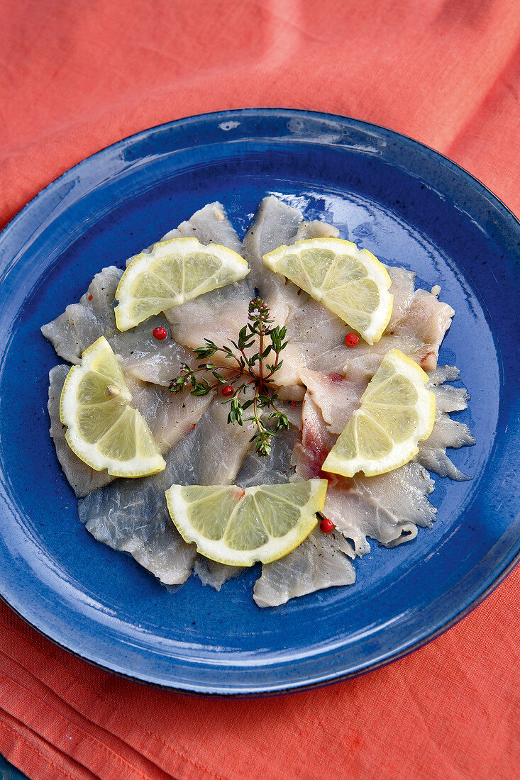 Swordfish Carpaccio with thyme and olive oil