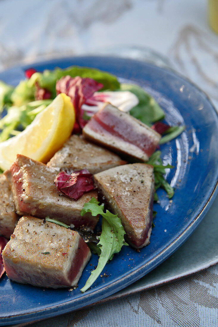 Pan-fried tuna
