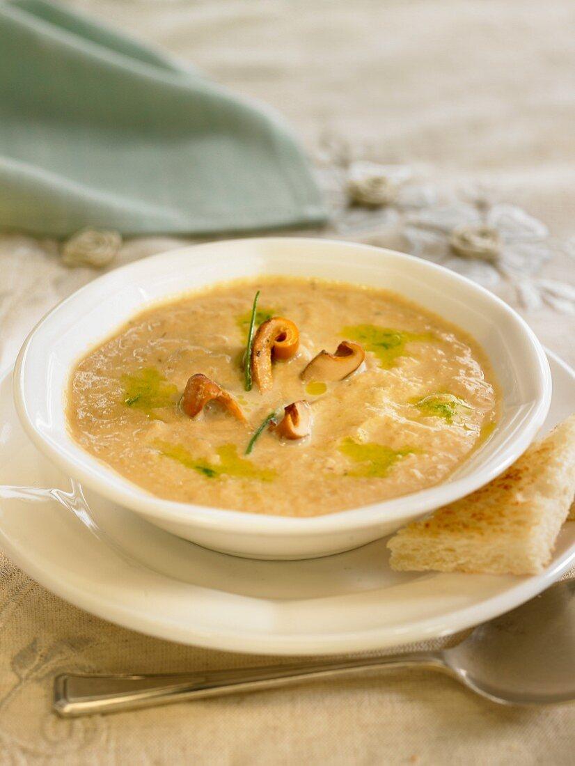 Cream of button mushroom soup