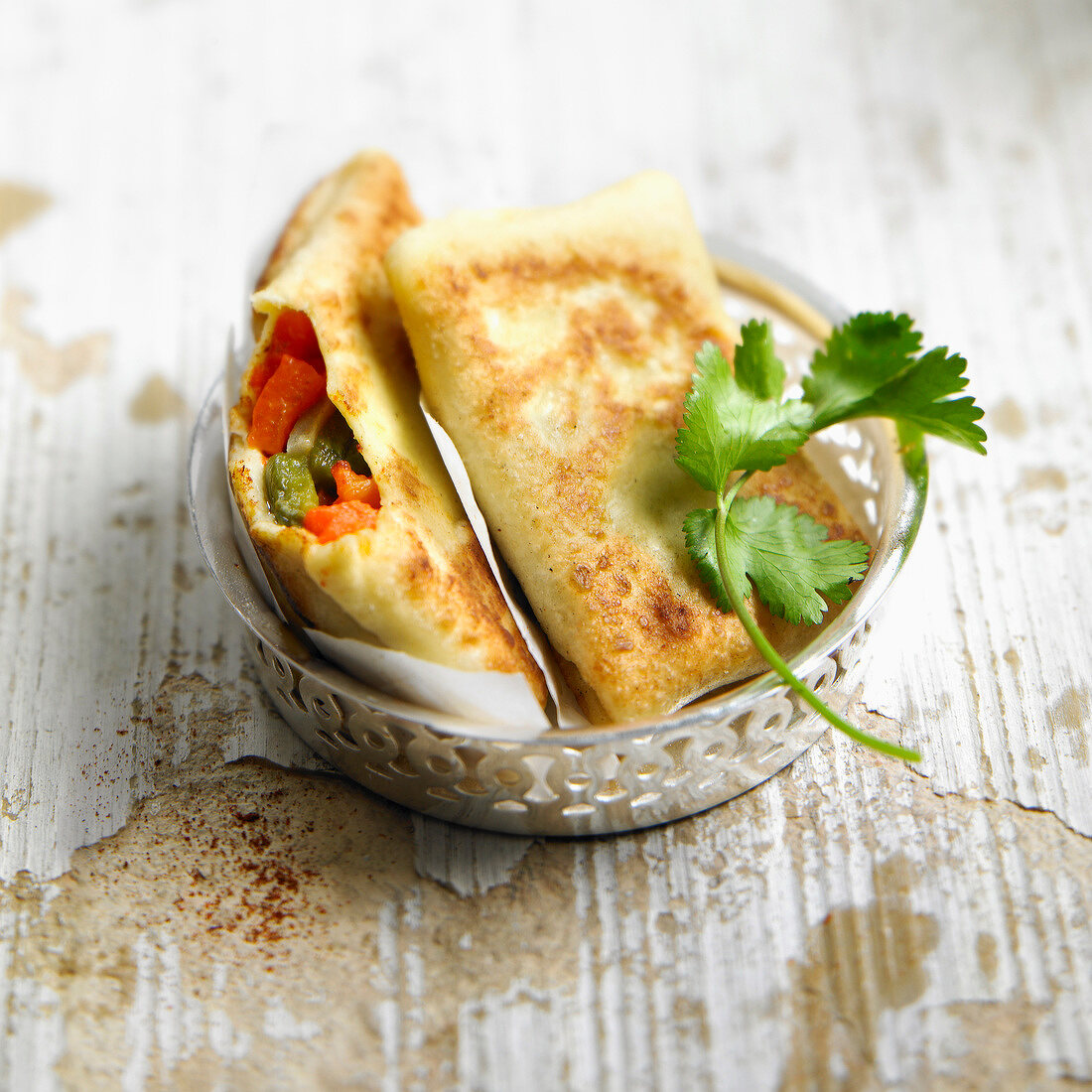 Green and red pepper turnovers