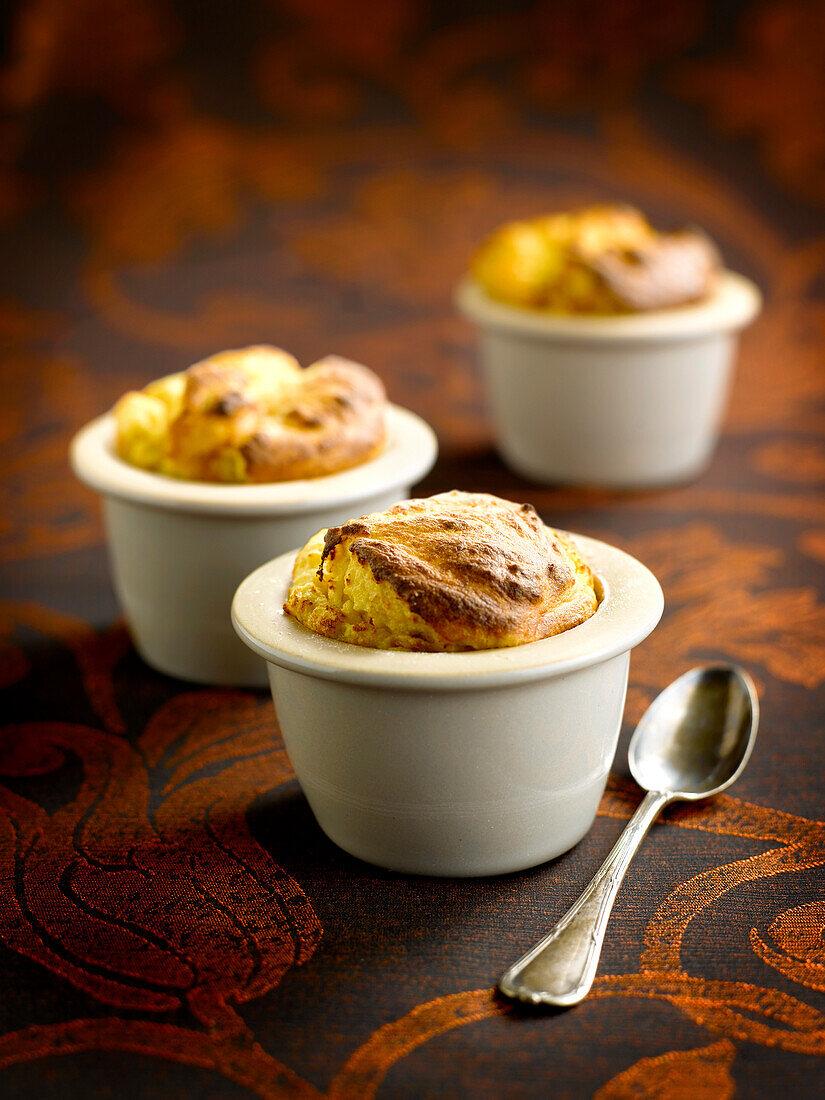 Pumpkin and chestnut soufflé