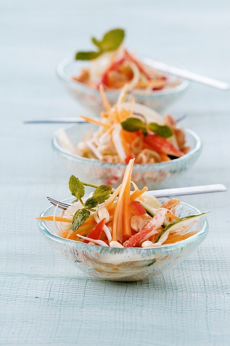 Exotic crab salad