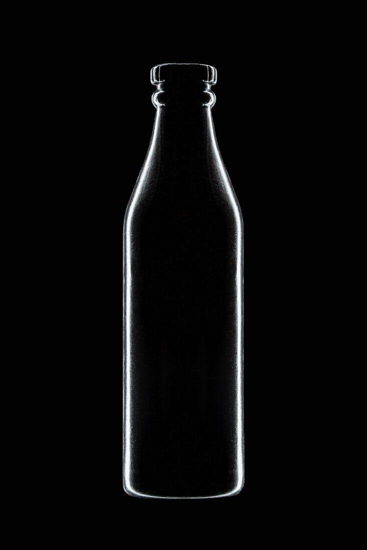 X-ray-style soda bottle