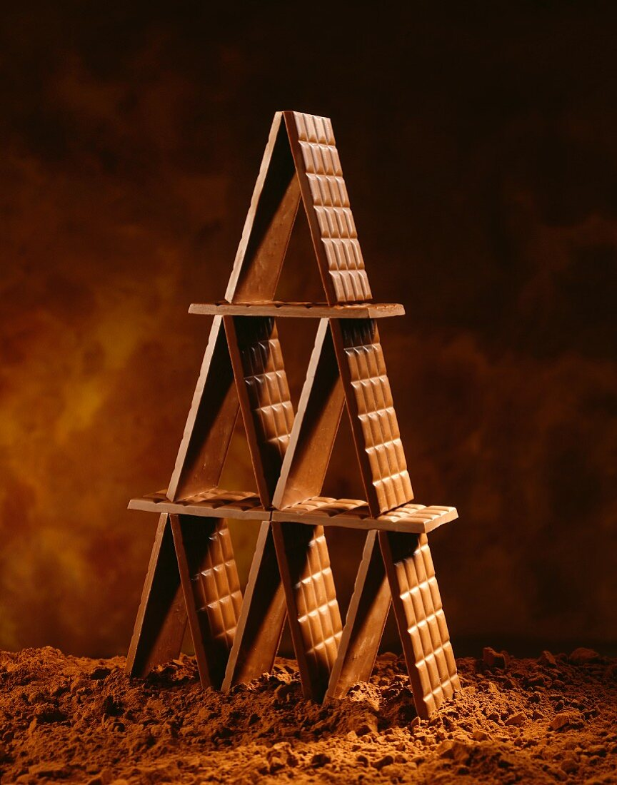 Chocolate bar pyramid