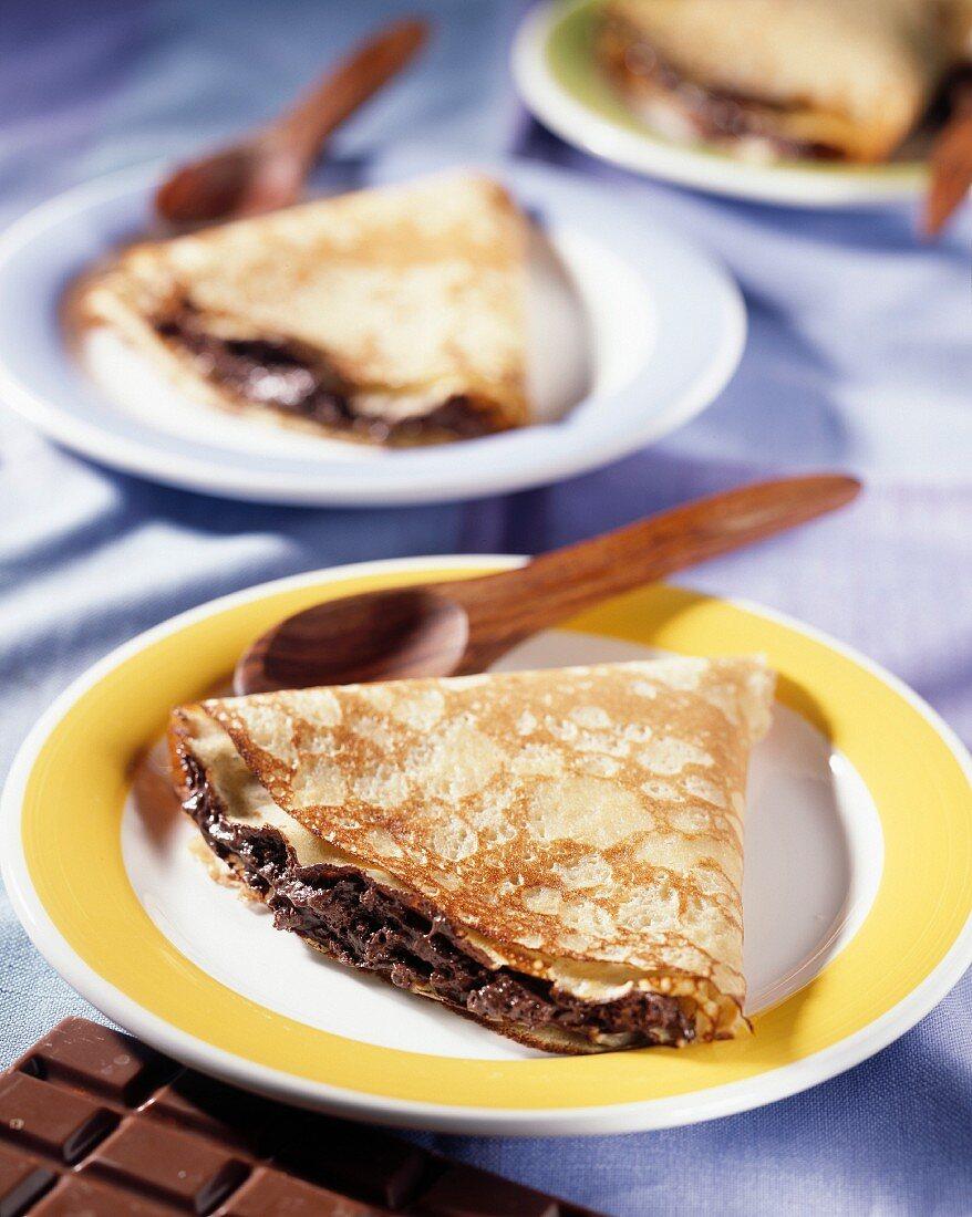Crêpe with chocolate