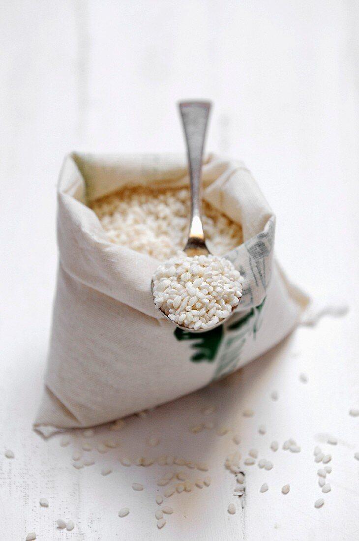Bag of Carnaroli rice for risotto