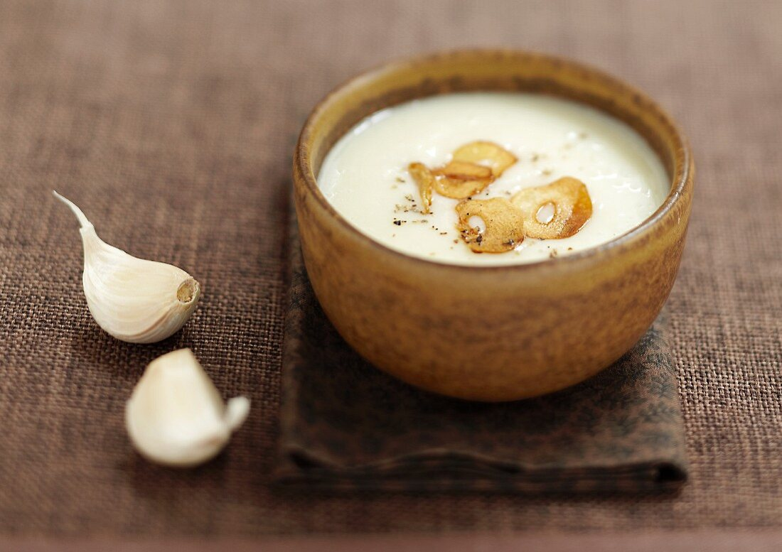 Traditional garlic Tourin