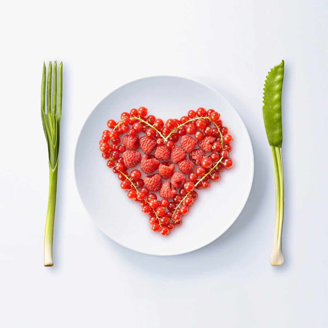 Heart made with summer fruit