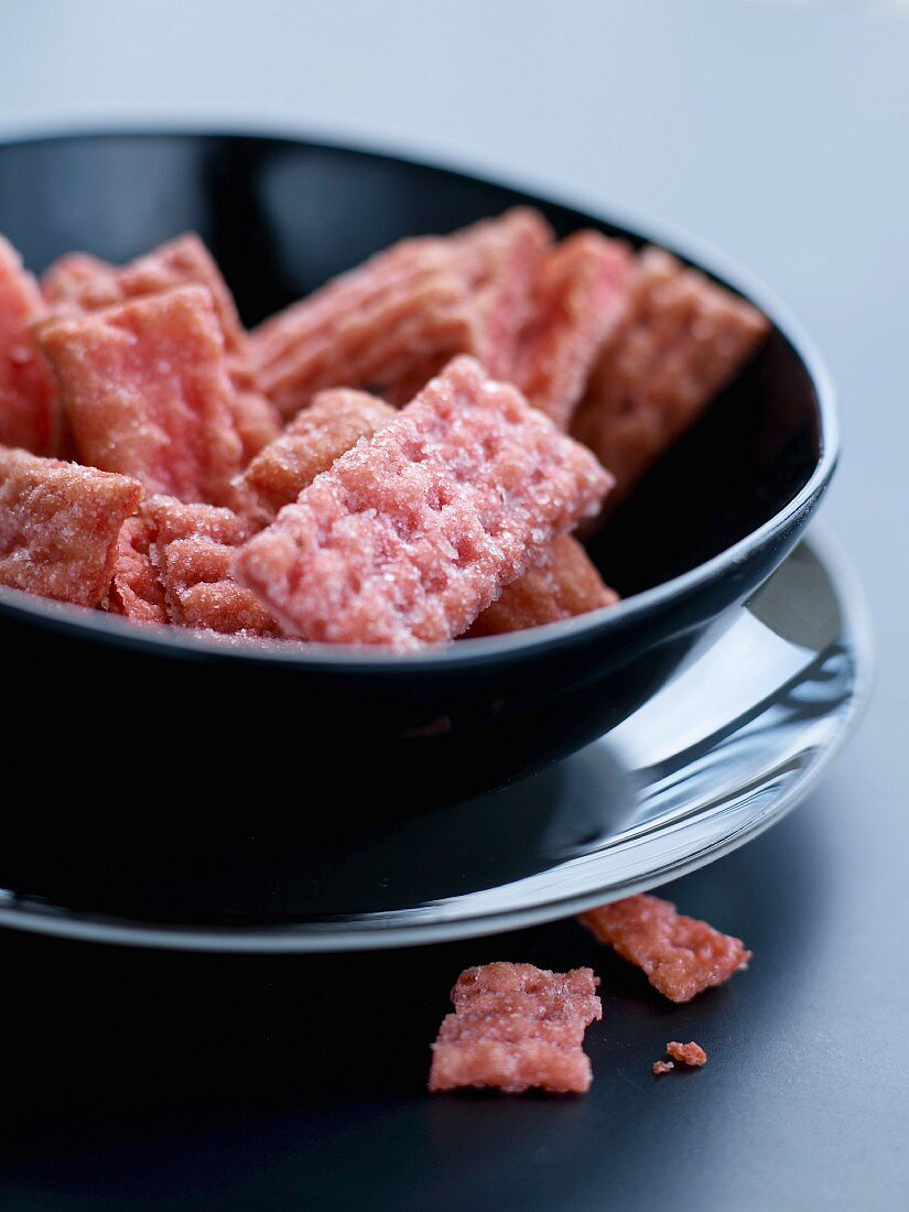 Raspberry biscuits