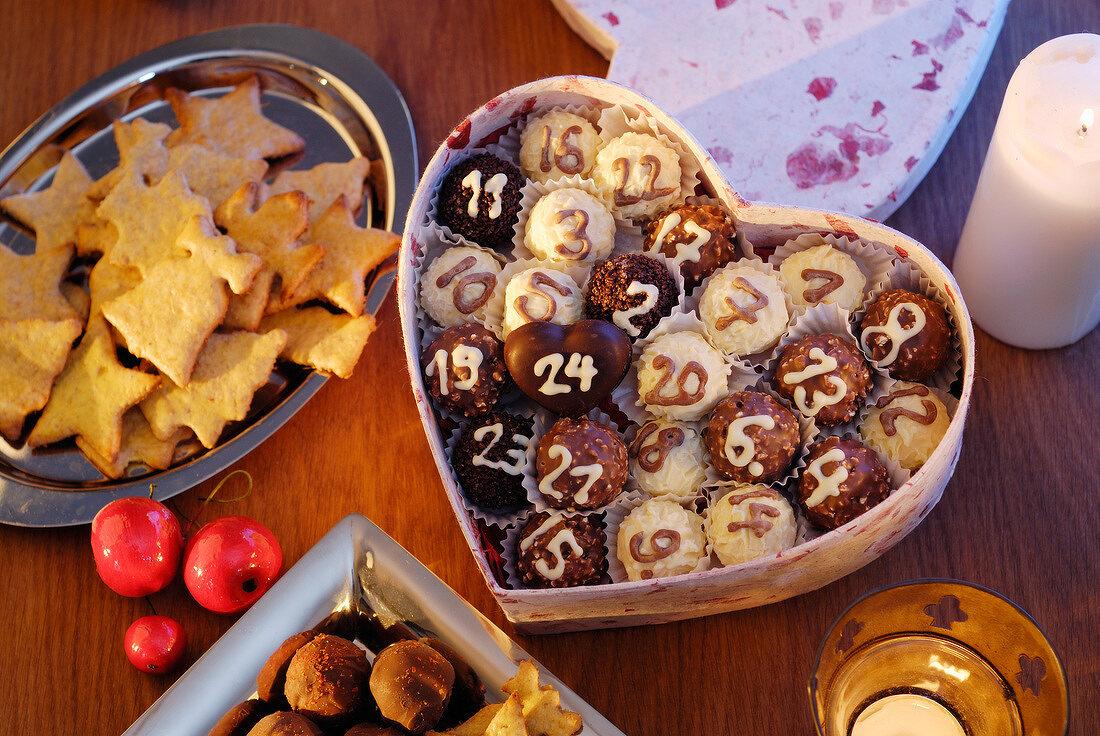 Advent calendar chocolate box