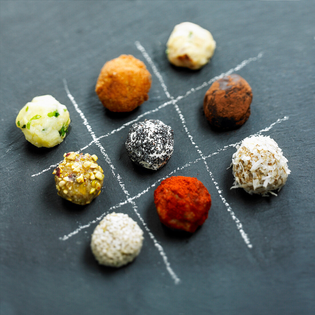Game on different flavored aperitif balls
