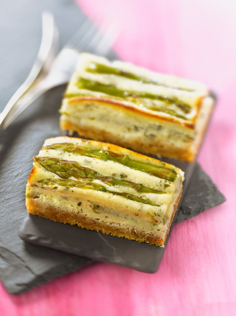 Asparagus and Pecorino cheesecake