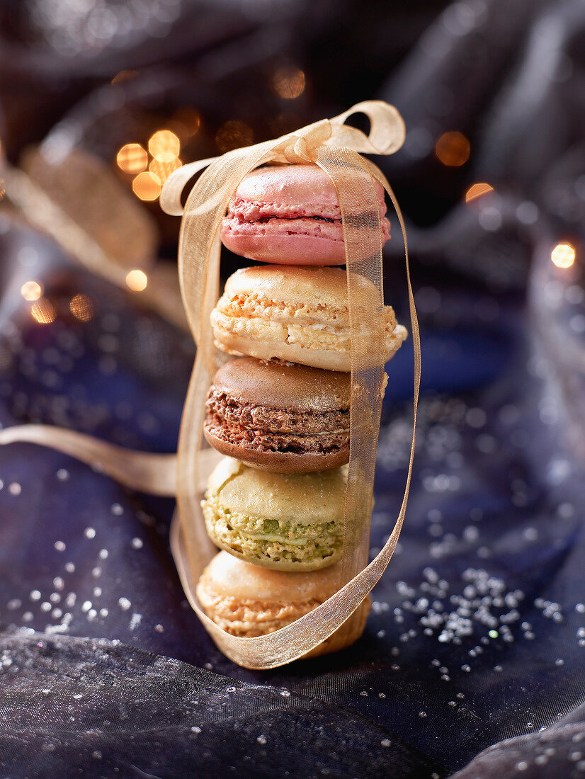 Christmas atmosphere with macaroons