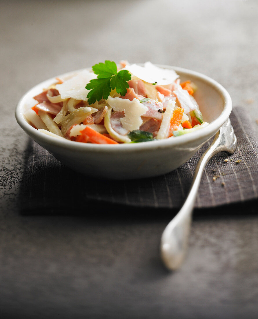 Thinly sliced vegetable salad