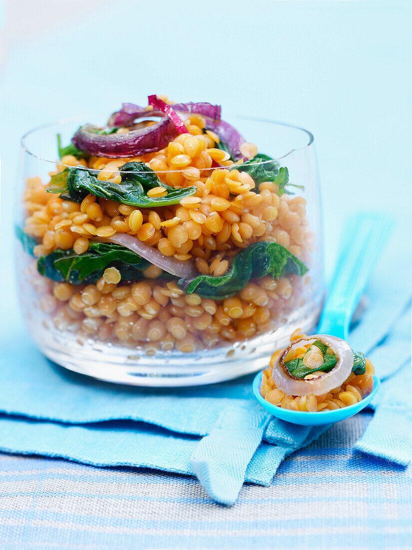 Orange lentil curry