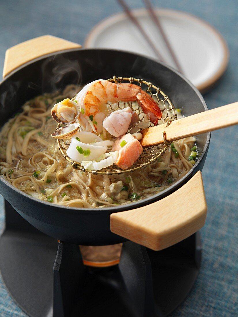Corean fish fondue
