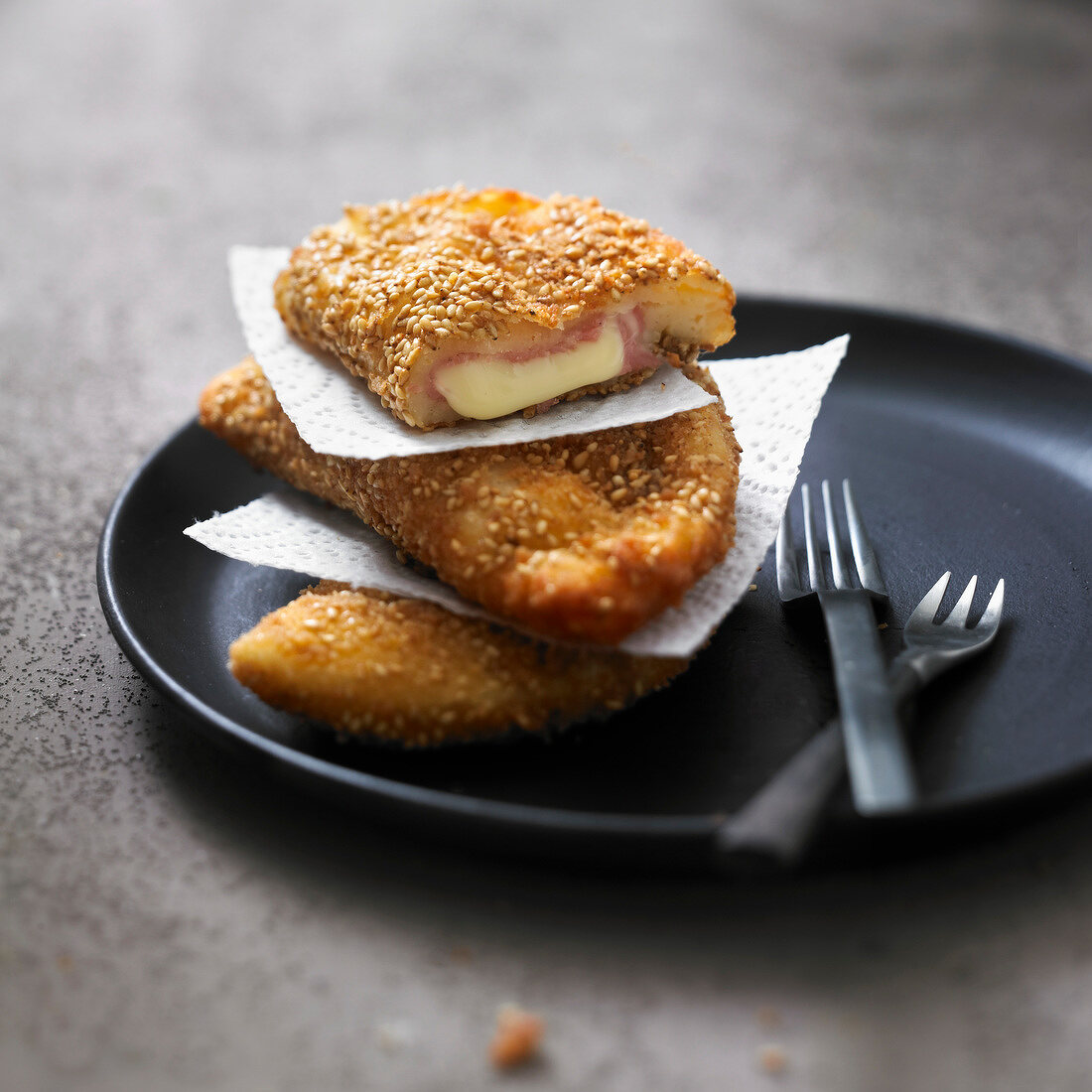 Ham and cheese breaded turnovers