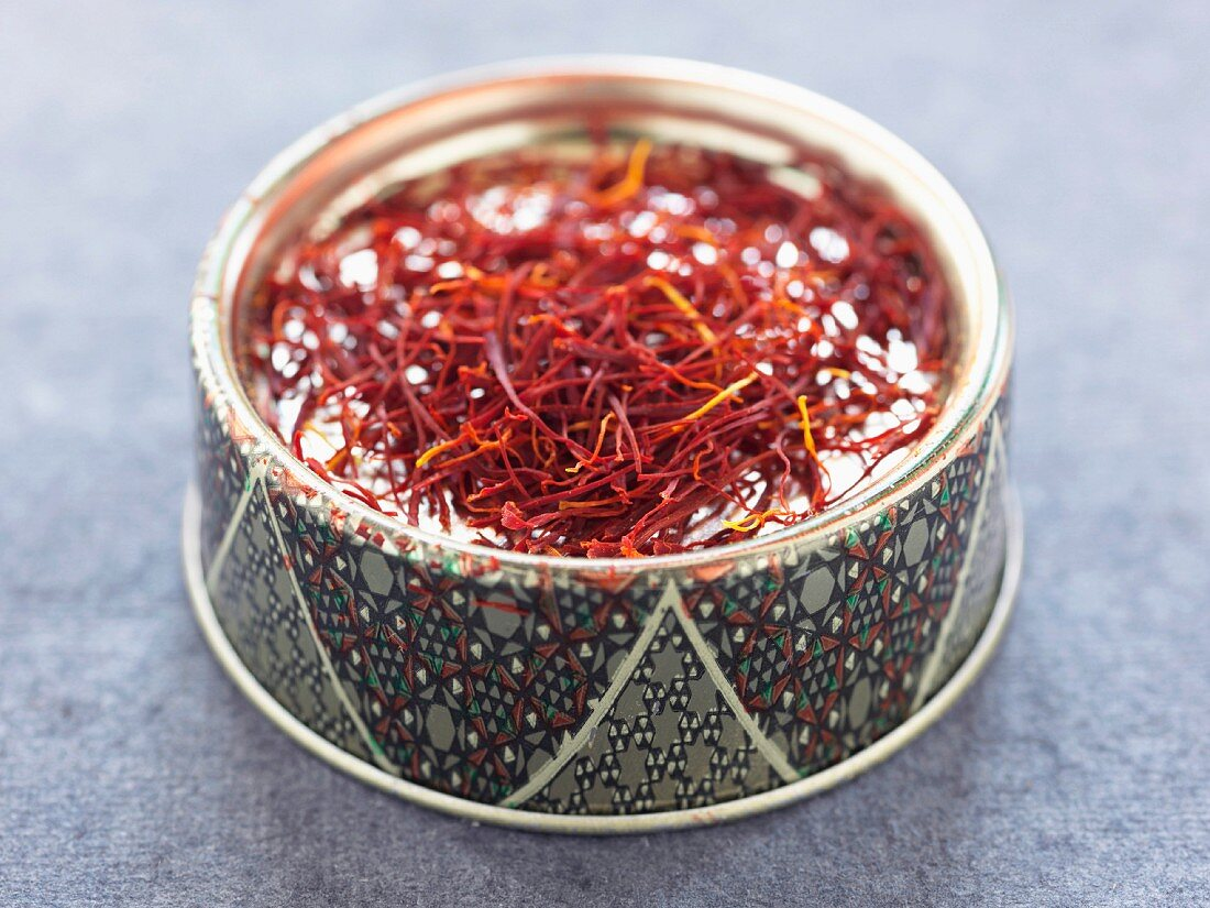 Iranian box of saffron