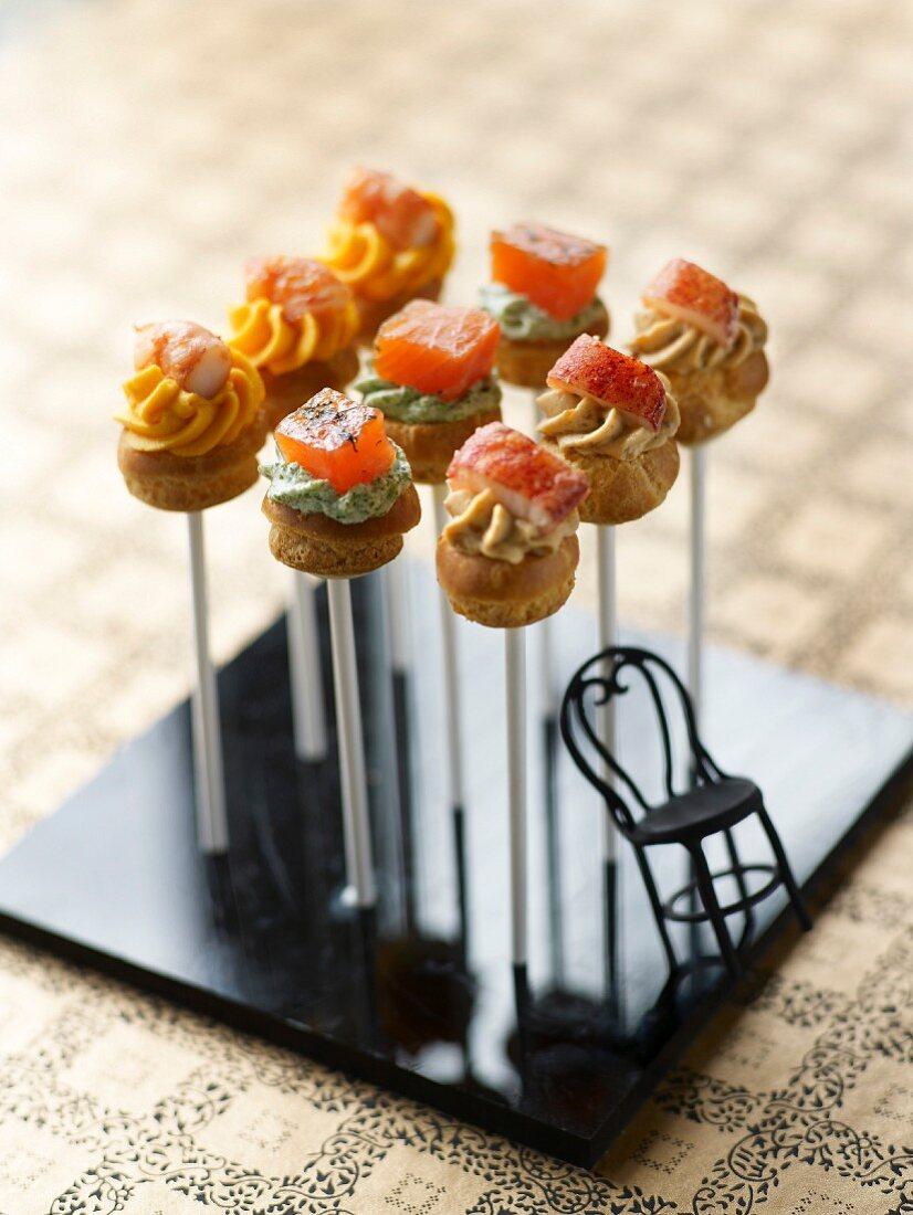 Lollipop savoury appetizers