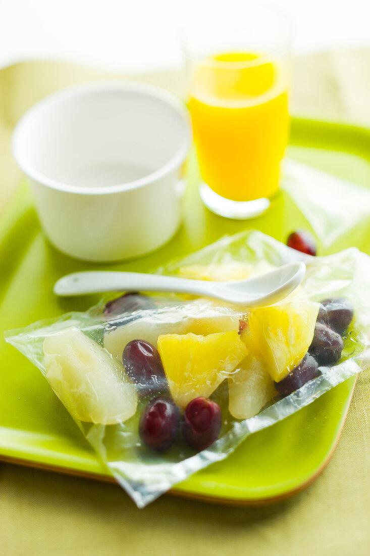 Bag of fresh fruit