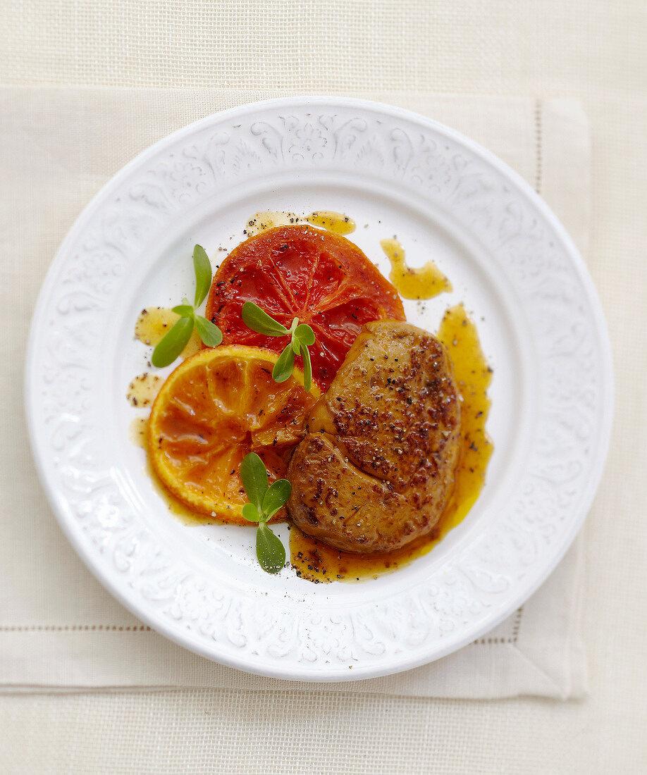 Foie gras with citrus fruit