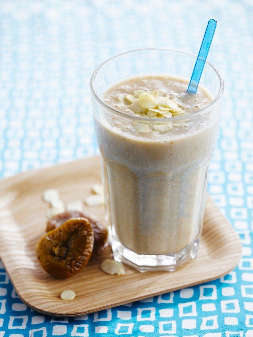 Dried fig and almond milkshake