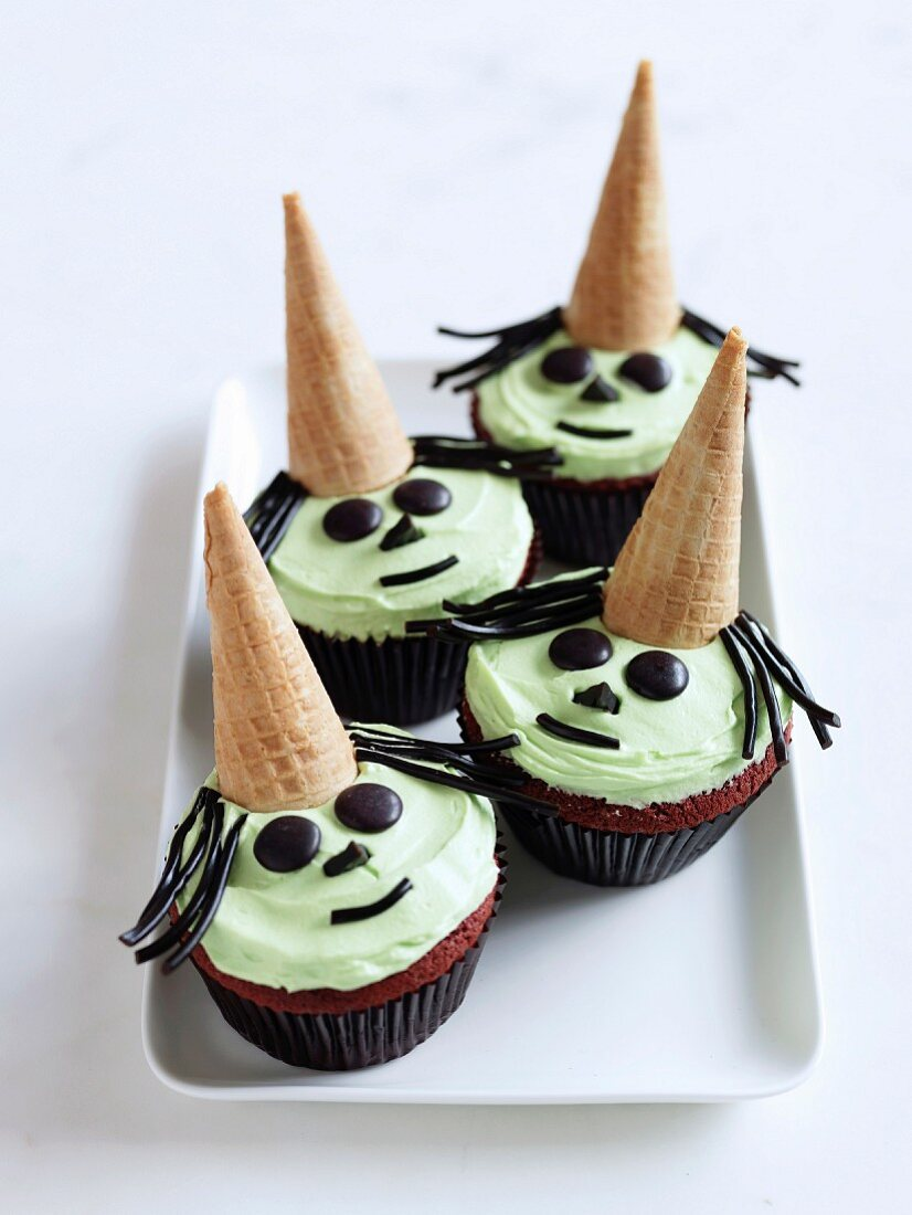 Frightening mint-chocolate muffins