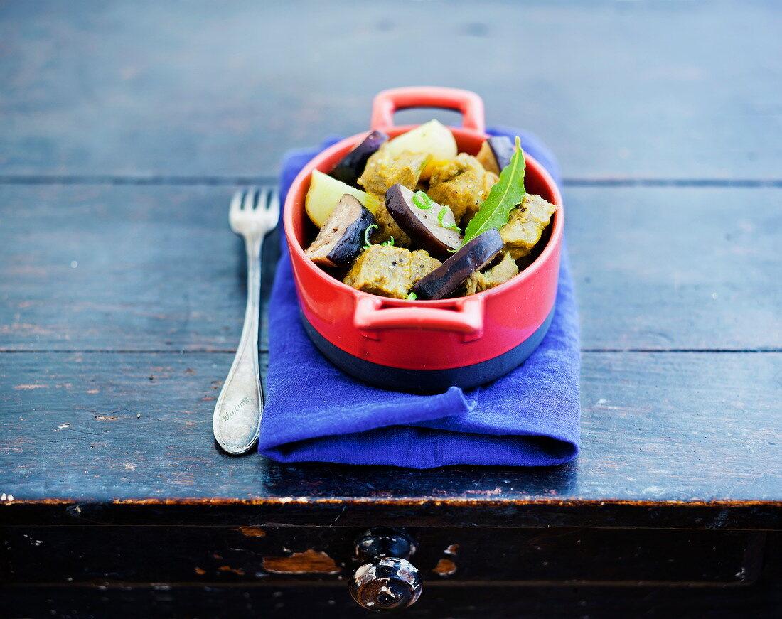 Pork and eggplant Colombo
