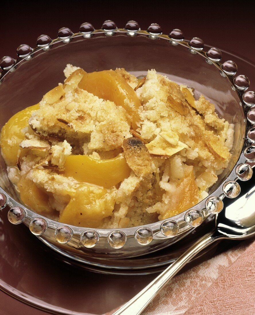 A Serving of Peach Cobbler