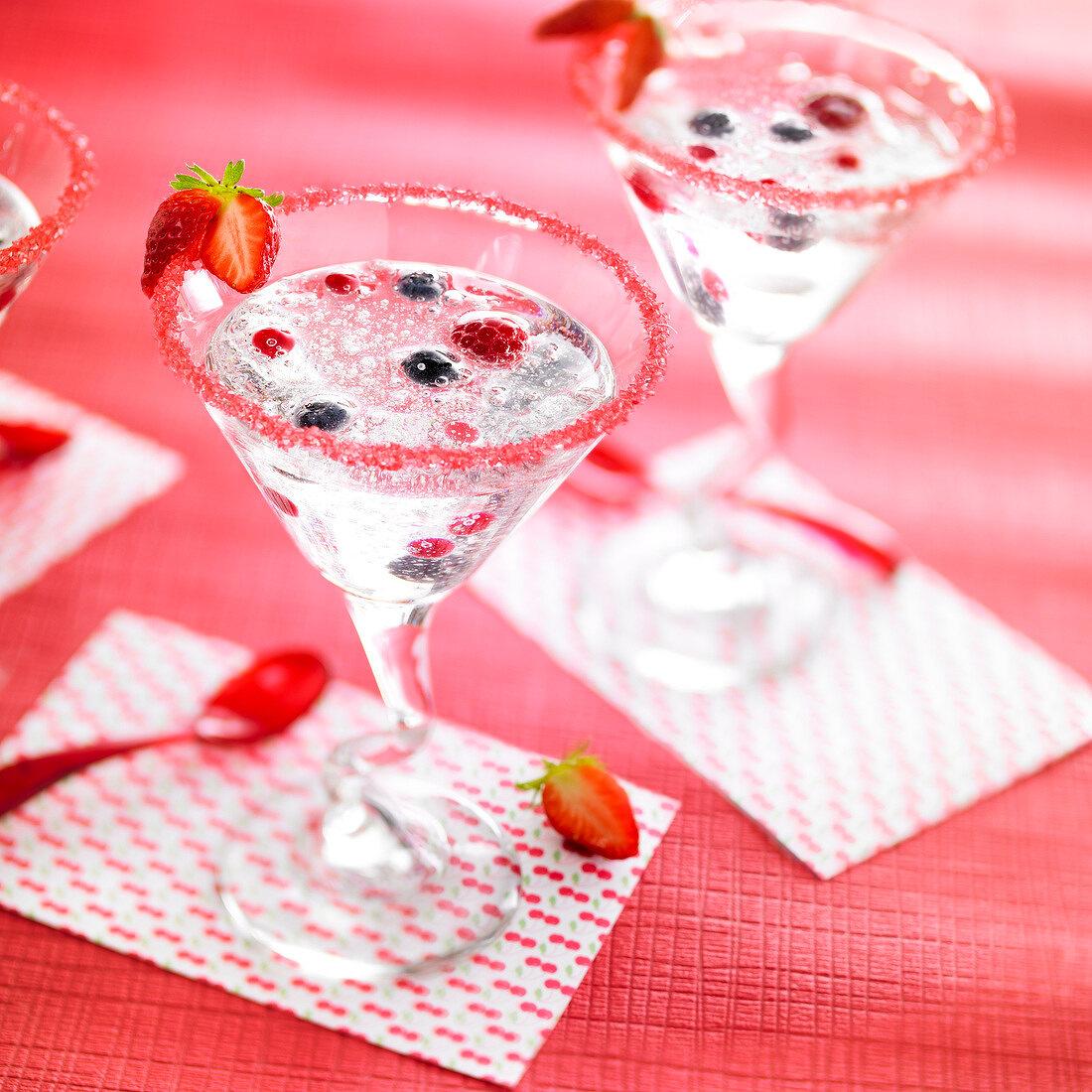 Summer fruit cocktail