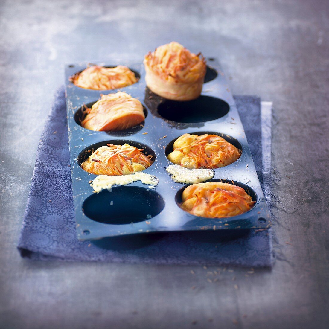 Carrot and cheese savoury fondants