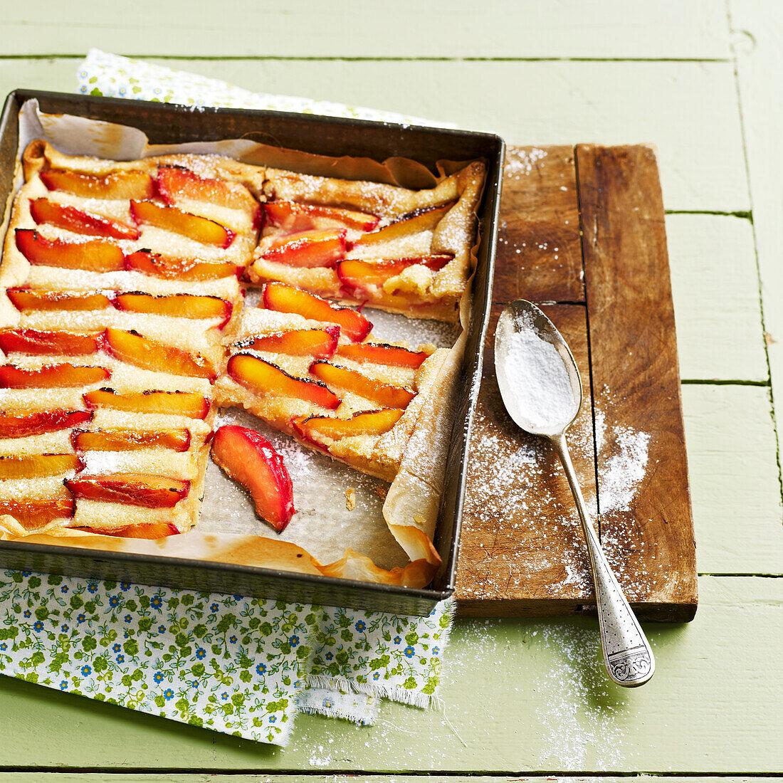 Square nectarine pie