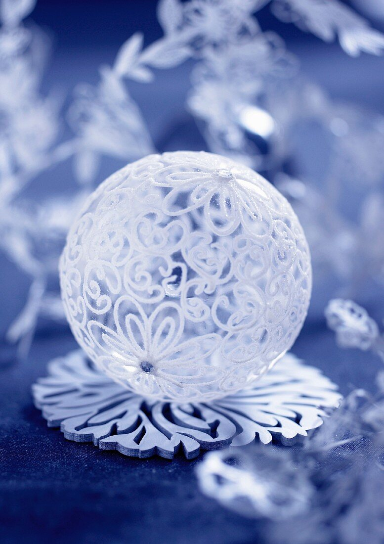 Christmas glass ball decoration