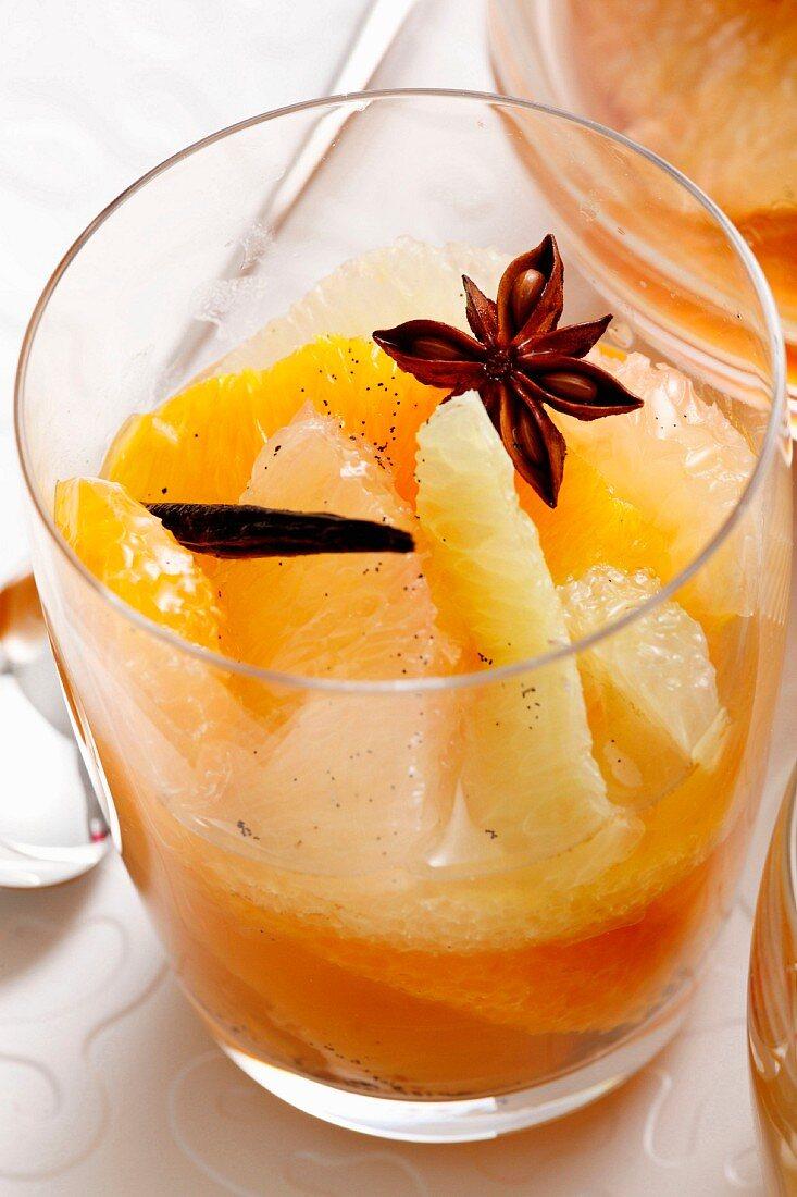 Citrus fruit salad with spices