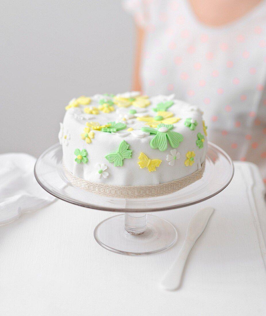 Almond paste chiffon cake