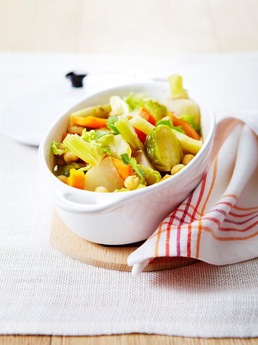 Autumn vegetable casserole