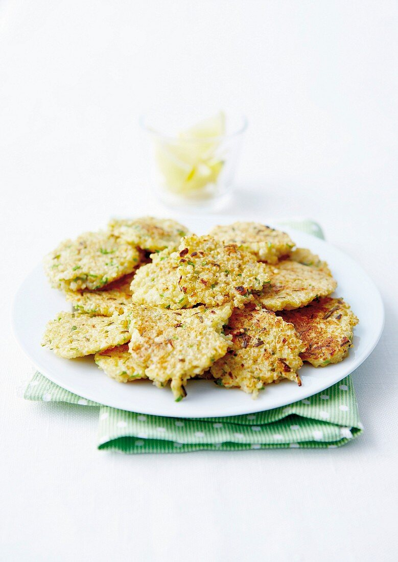 Quinoa and chive patties