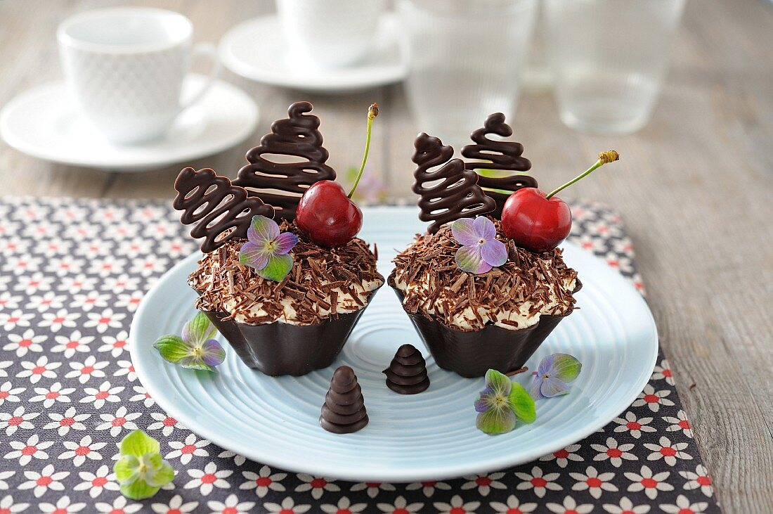 Black Forests in chocolate casings