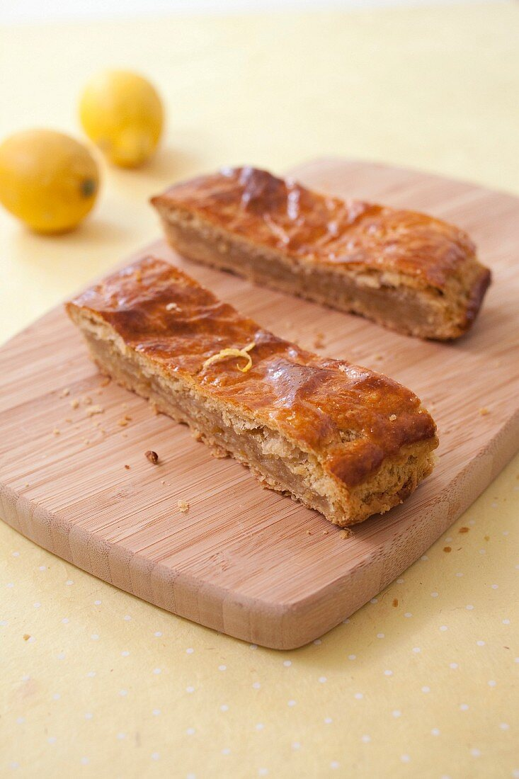 Poumpet,lemon flaky pastry pie