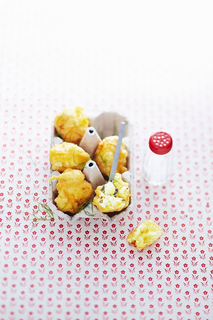 Egg croquettes