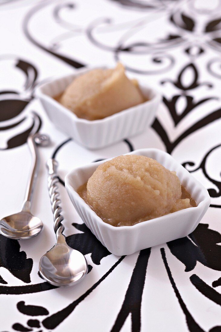 Pear and Champagne sorbet