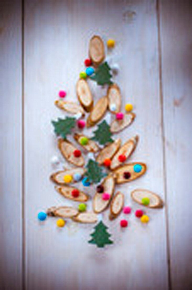 Christmas tree decoration with candies