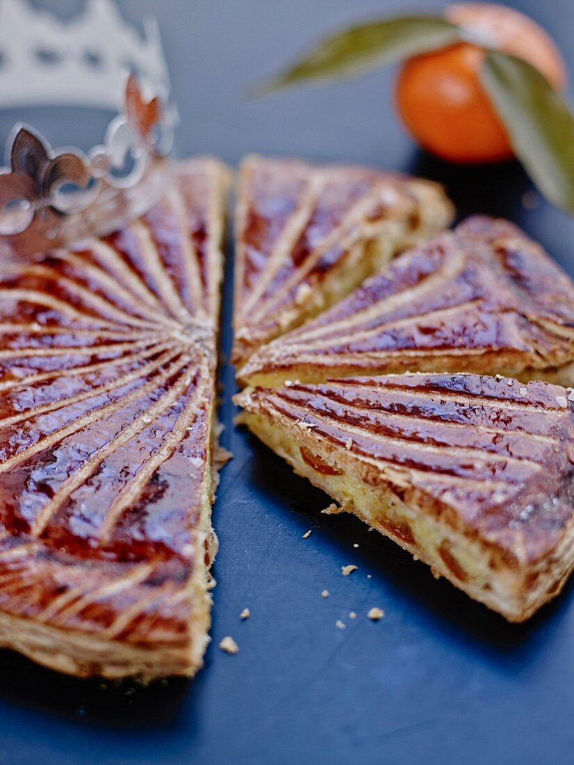 Clementine galette, sliced