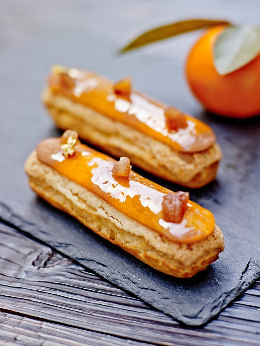 Eclairs with clementine cream