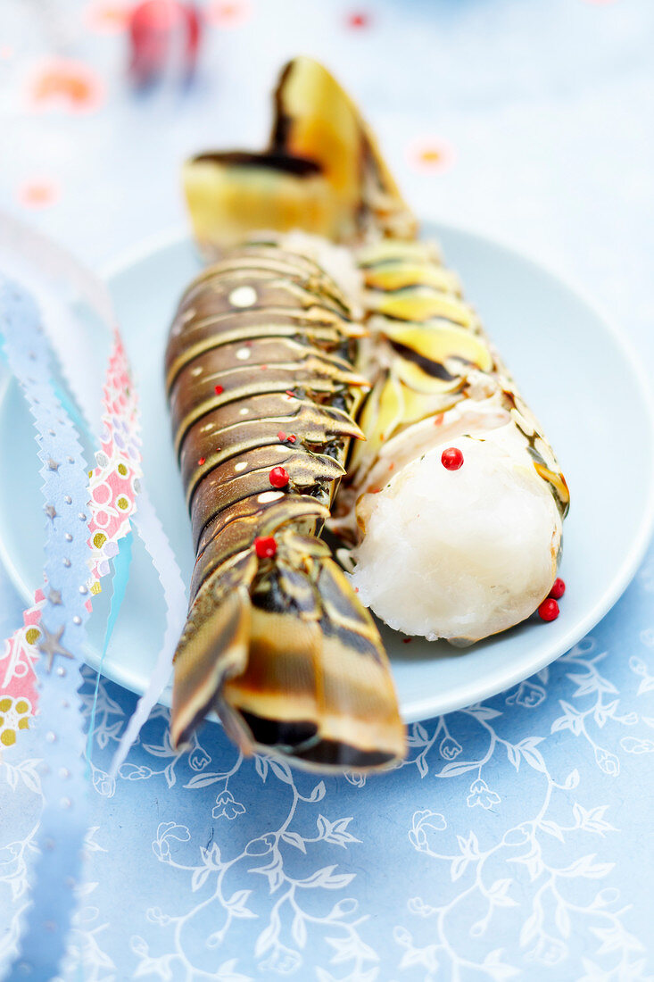 Raw spiny lobster tails