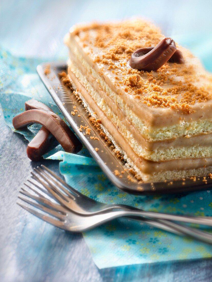 Carambar layer spong cake