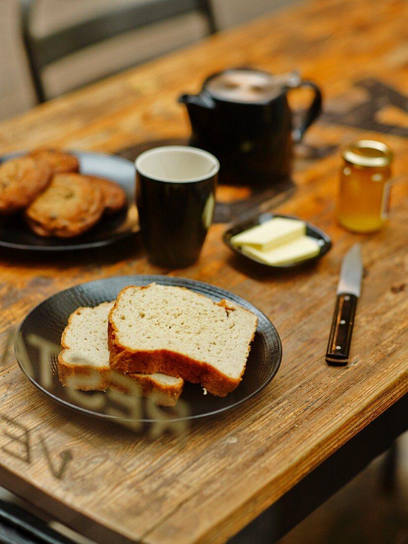 Gluten-free breakfast table