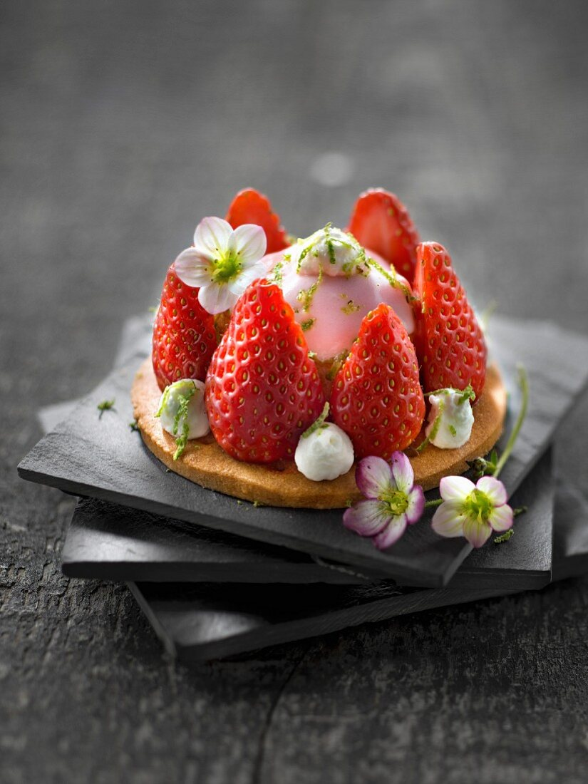 Strawberry and lime Saint-Honoré
