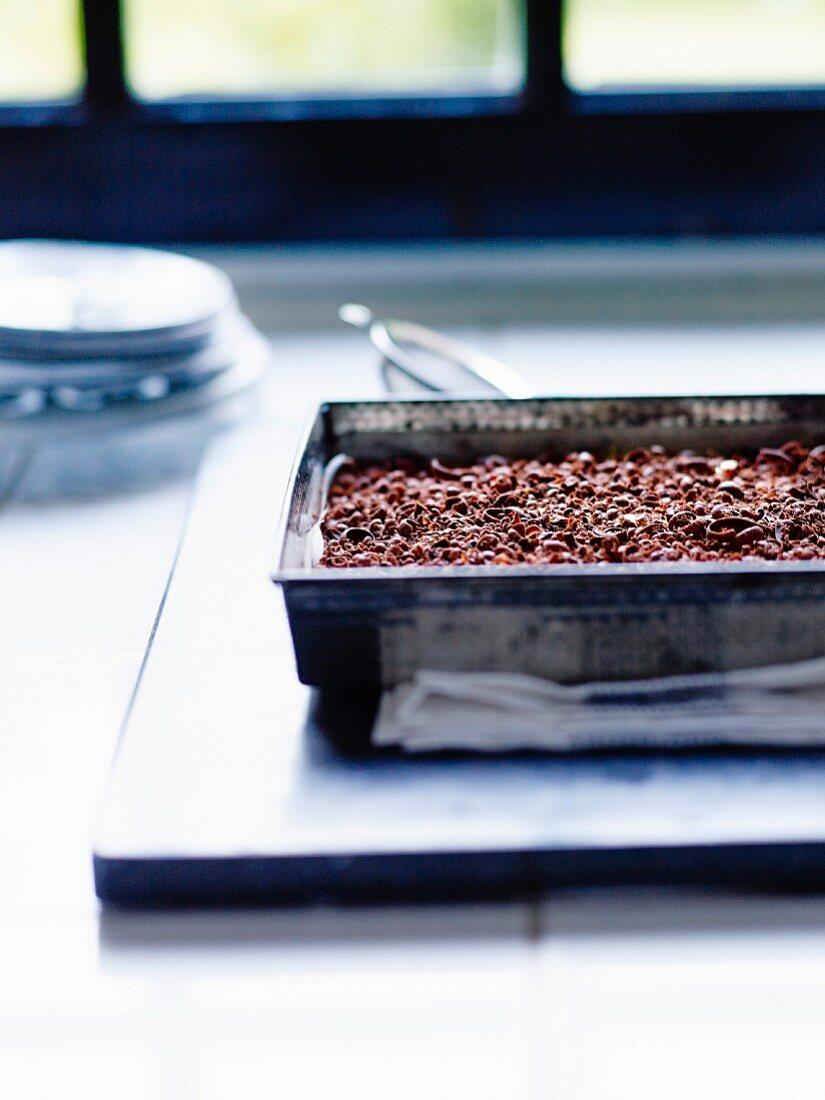 Gluten-free rich tea biscuit and dark chocolate chip tiramisu