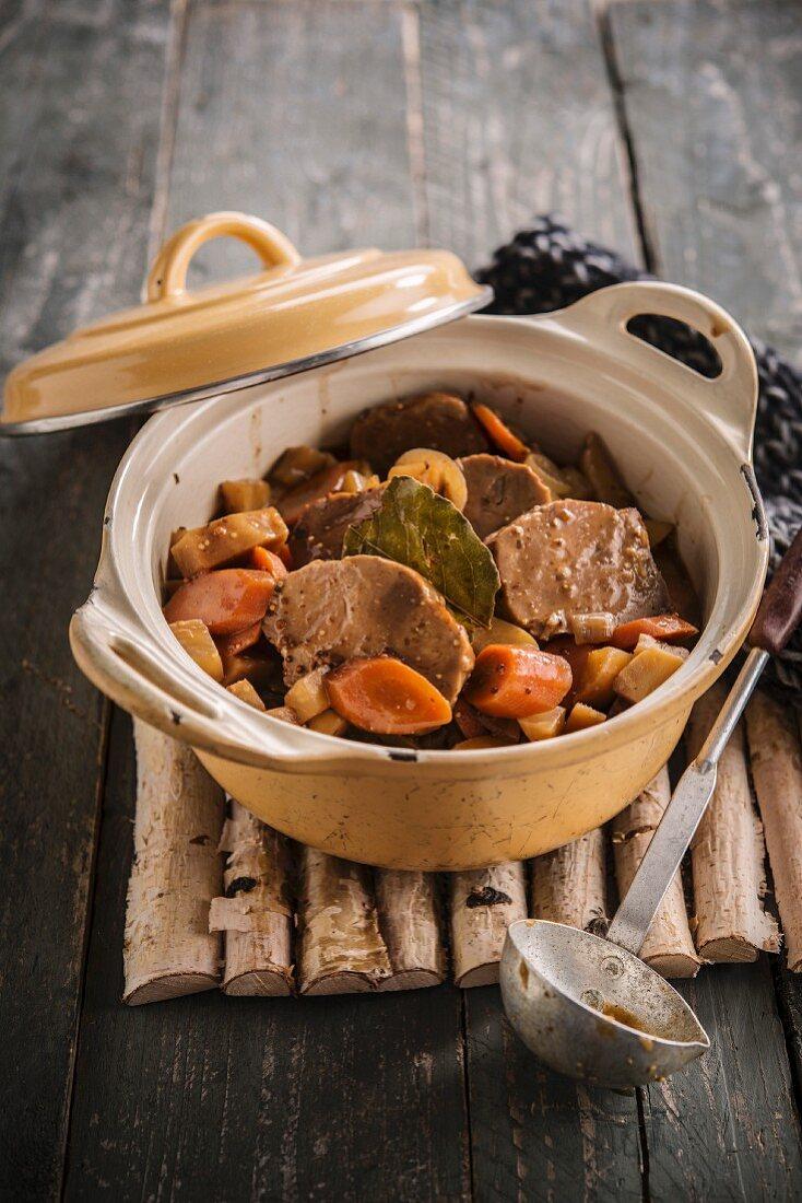 Turkey,potato and carrot stew